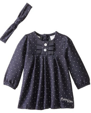 Calvin Klein Baby Girls' Denim Dress with Headband