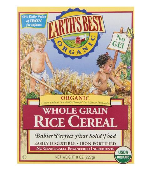 $2.86 Earth's Best Organic, Whole Grain Rice Cereal, 8 Ounce