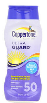 $7.82 Coppertone UltraGuard Lotion SPF 50, 8 oz