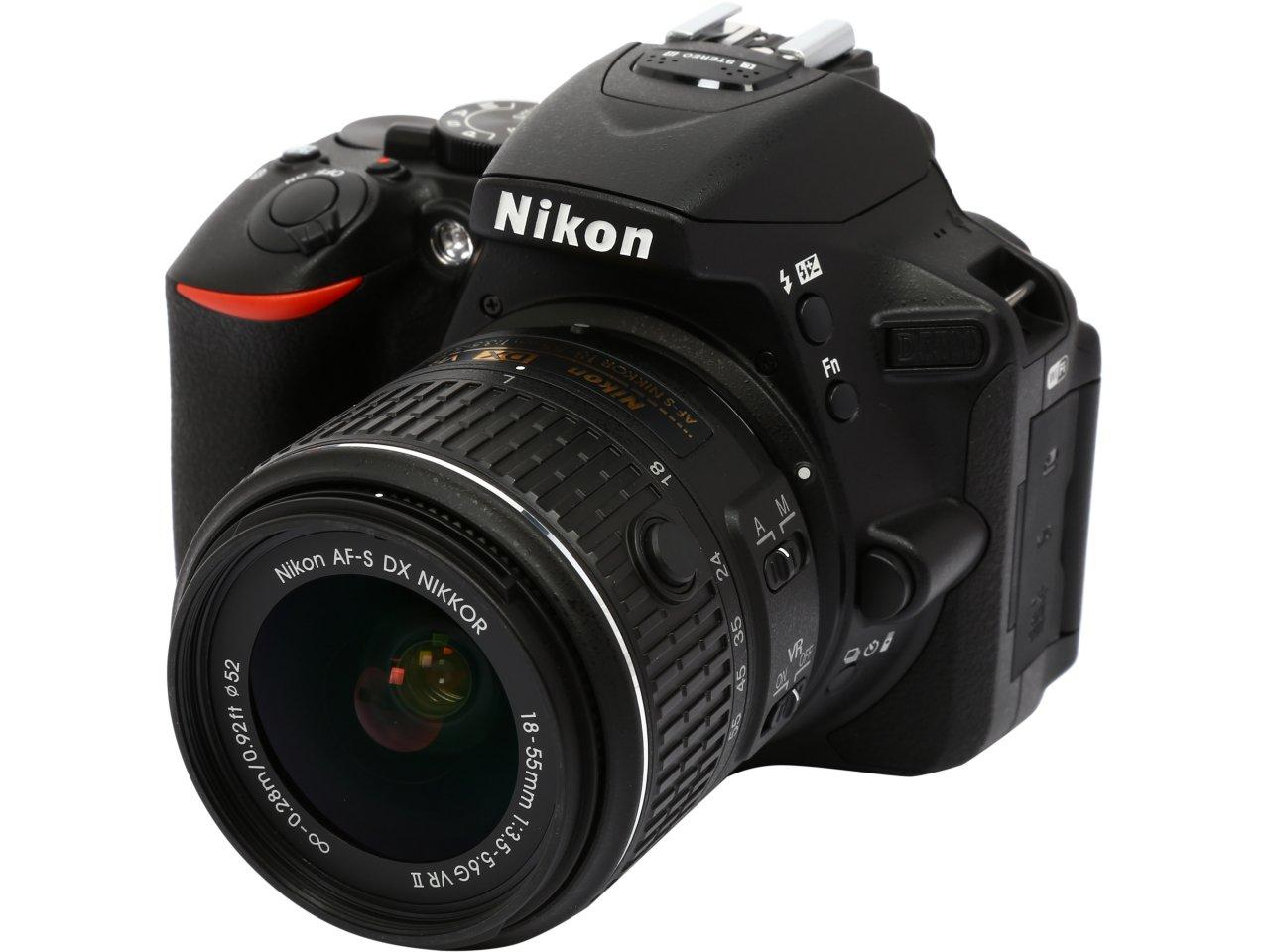 Nikon D5500 Black 24.2MP DSLR Camera with 18-55mm VR II Lens