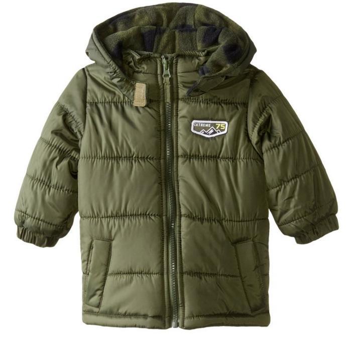 iXtreme Baby Boys' Cire Puffer with Buffalo Plaid @ Amazon