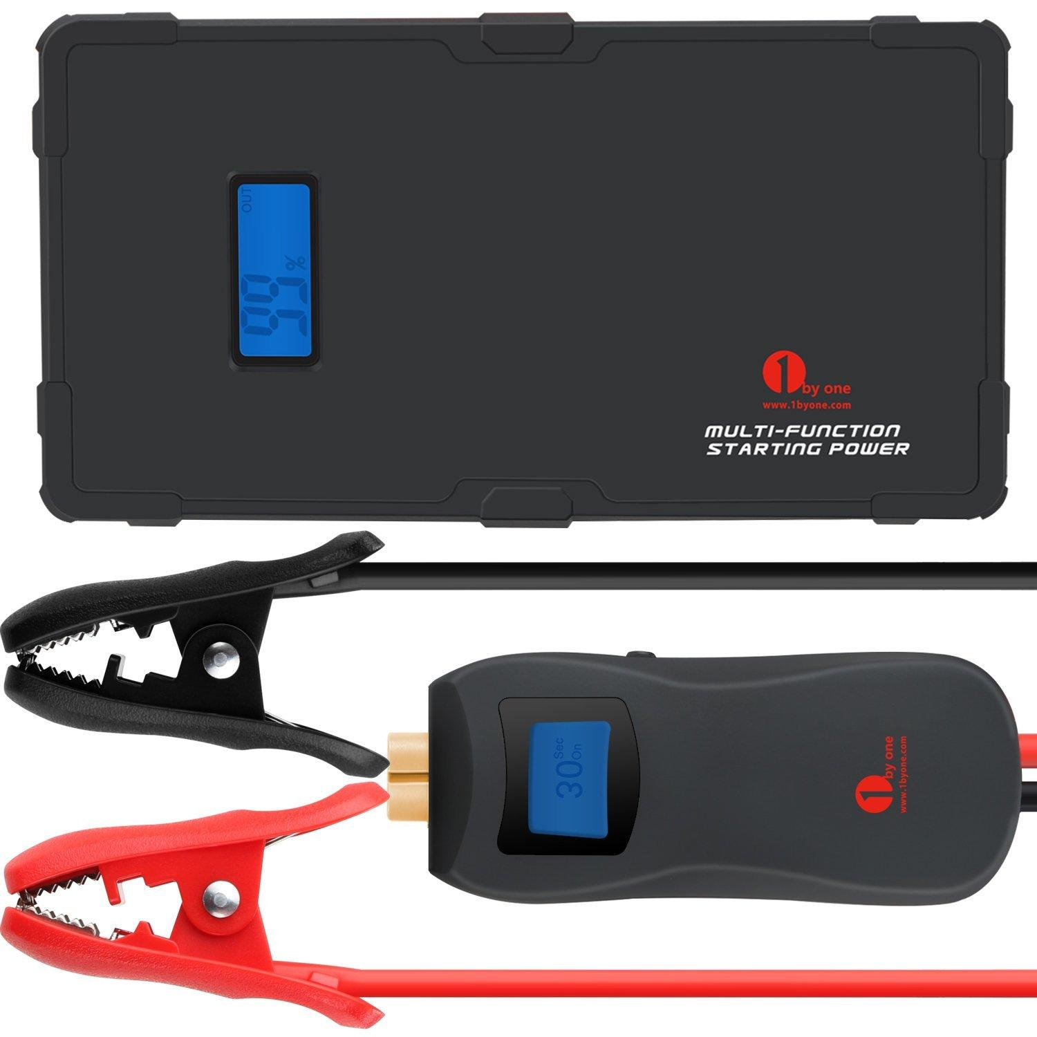 1byone 9000mAh 12V Multi-Function Smart Portable Car Jump Starter Powerbank