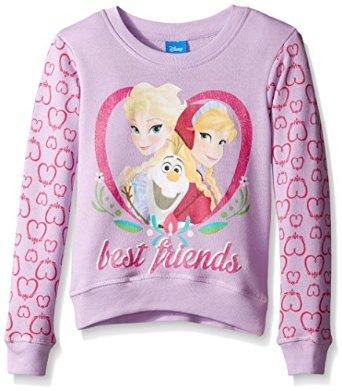 Disney Girls' Long Sleeve Crewneck Sweatshirt