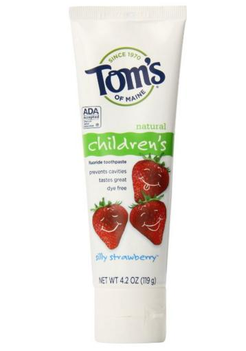 $7.81 Tom's of Maine Anticavity Fluoride Children's Toothpaste, Silly Strawberry, 4.2-Ounce, 3 Piece