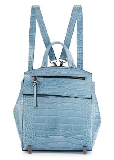 Neiman Marcus Kari Crocodile-Embossed Backpack, Powder Blue @ LastCall by Neiman Marcus