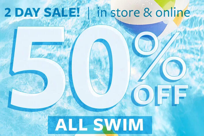 2 Days Sale! 50% off ALL SWIM! Plus Extra 20% off $50 All Swim Cloth Sale @ Carter's