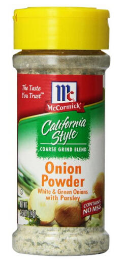 McCormick California Style Coarse Grind Blend Onion Powder 2.62 Ounce