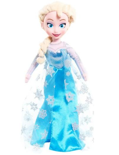 $5 Disney Frozen Medium Talking Elsa Plush with Vinyl Face