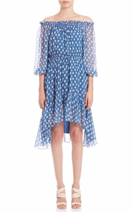 Diane von Furstenberg Camila Off-The-Shoulder Silk Dress