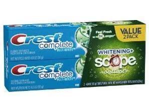 Crest Complete Extra White Plus Scope Outlast Fresh Breath Whitening Toothpaste