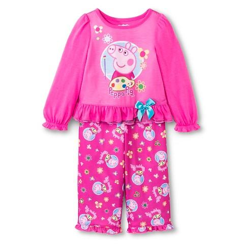 Peppa Pig Baby Girls' Long-Sleeve Pajama Set