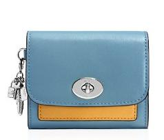 COACH Charm Compact Wallet in Colorblock Leather @ Bloomingdales