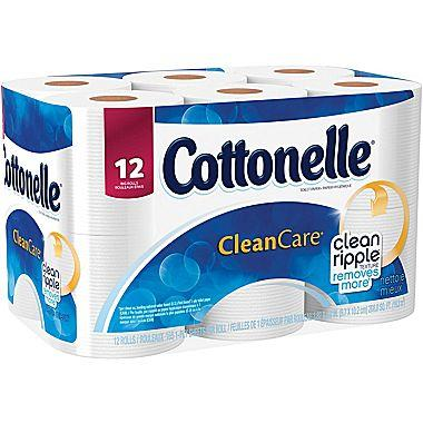 Kleenex® Cottonelle® Gentle Clean Care Bath Tissue, 1-Ply, 12 Rolls/Pack