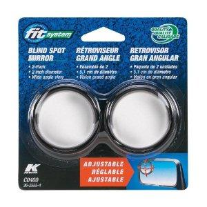 Fit System C0400 Driver/Passenger Side Stick-On Adjustable Blind Spot Mirrors - Pack of 2