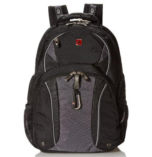 SwissGear Black with Grey TSA Friendly ScanSmart Computer Backpack