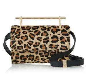 M2MALLETIER Fabricca mini leopard-print calf hair shoulder bag On Sale @ THE OUTNET