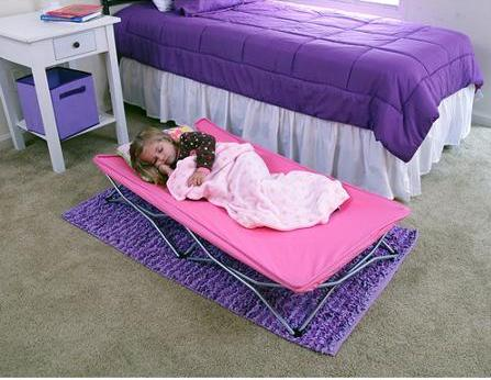 $20 Regalo My Cot Pink Portable Folding Travel Bed with Travel Bag