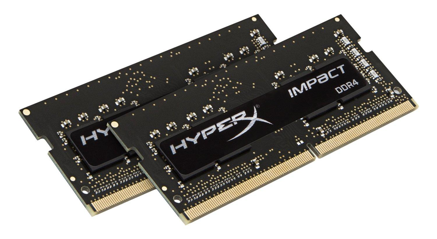 Kingston HyperX Impact 16GB Kit (2 x 8GB) 2400MHz DDR4 CL14 Laptop Memory