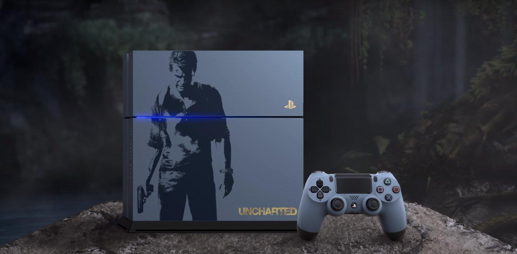 Pre-order $399 PlayStation 4 500GB Console - Uncharted 4 Limited Edition Bundle