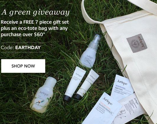 FREE 7pcs Gift + Tote Bag with any $60 purchase @ Jurlique