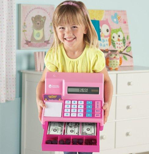 Learning Resources Pretend & Play Teaching Cash Register @ Amazon