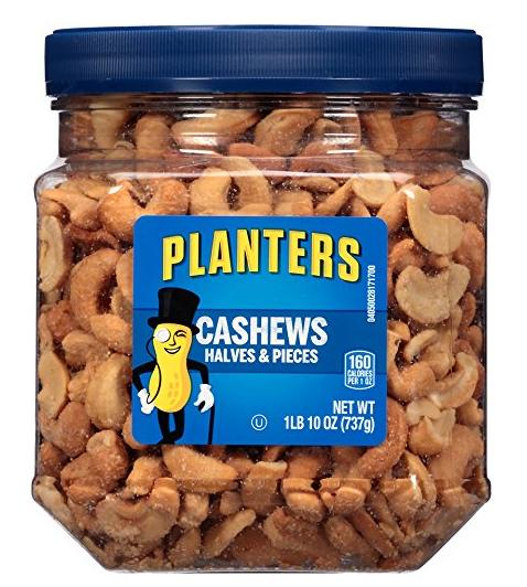 $8.18 Planters Cashew Halves and Pieces Jar, 26 Ounce