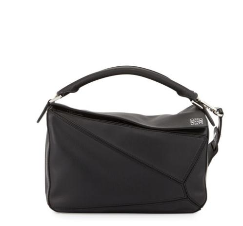 $2350 + $500 Gift Card Loewe Small Puzzle Satchel Bag, Black @ Neiman Marcus
