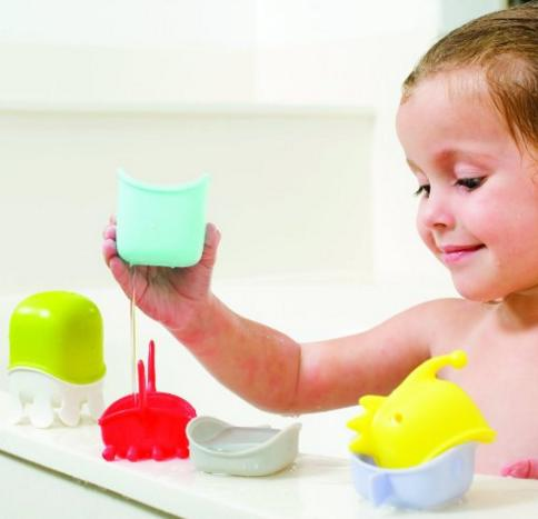Boon Creatures Interchangeable Bath Toy Cup Set @ Amazon