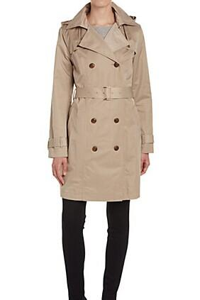 Cole Haan Classic Hooded Trench @ Rue La La