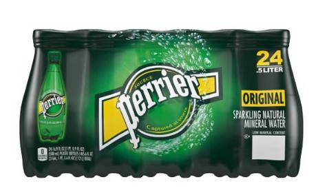 $11.94 Perrier Sparkling Natural Mineral Water, 16.9-ounce  (Pack of 24)
