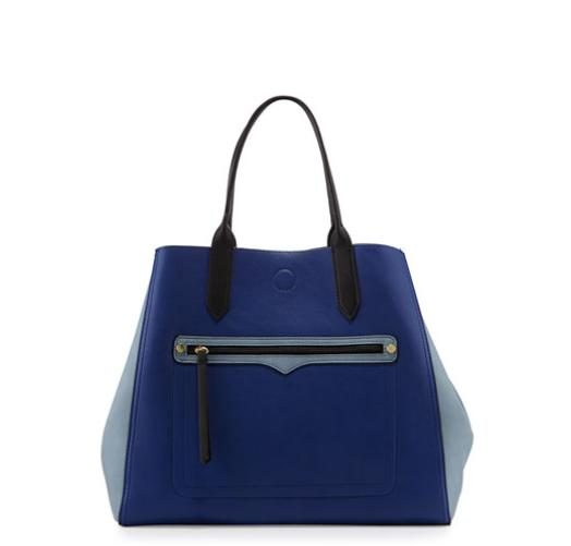 Neiman Marcus Reversible Tricolor Tote Bag, Cobalt/Blue/Black @ LastCall by Neiman Marcus