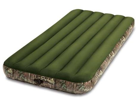Intex Mossy Oak Twin Prestige Downy Airbed Mattress with Hand Held Battery Pump