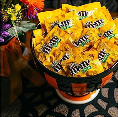 $12.12 M&M'S Peanut Chocolate Candy Fun Size 11.23-Ounce Bag (Pack of 6)