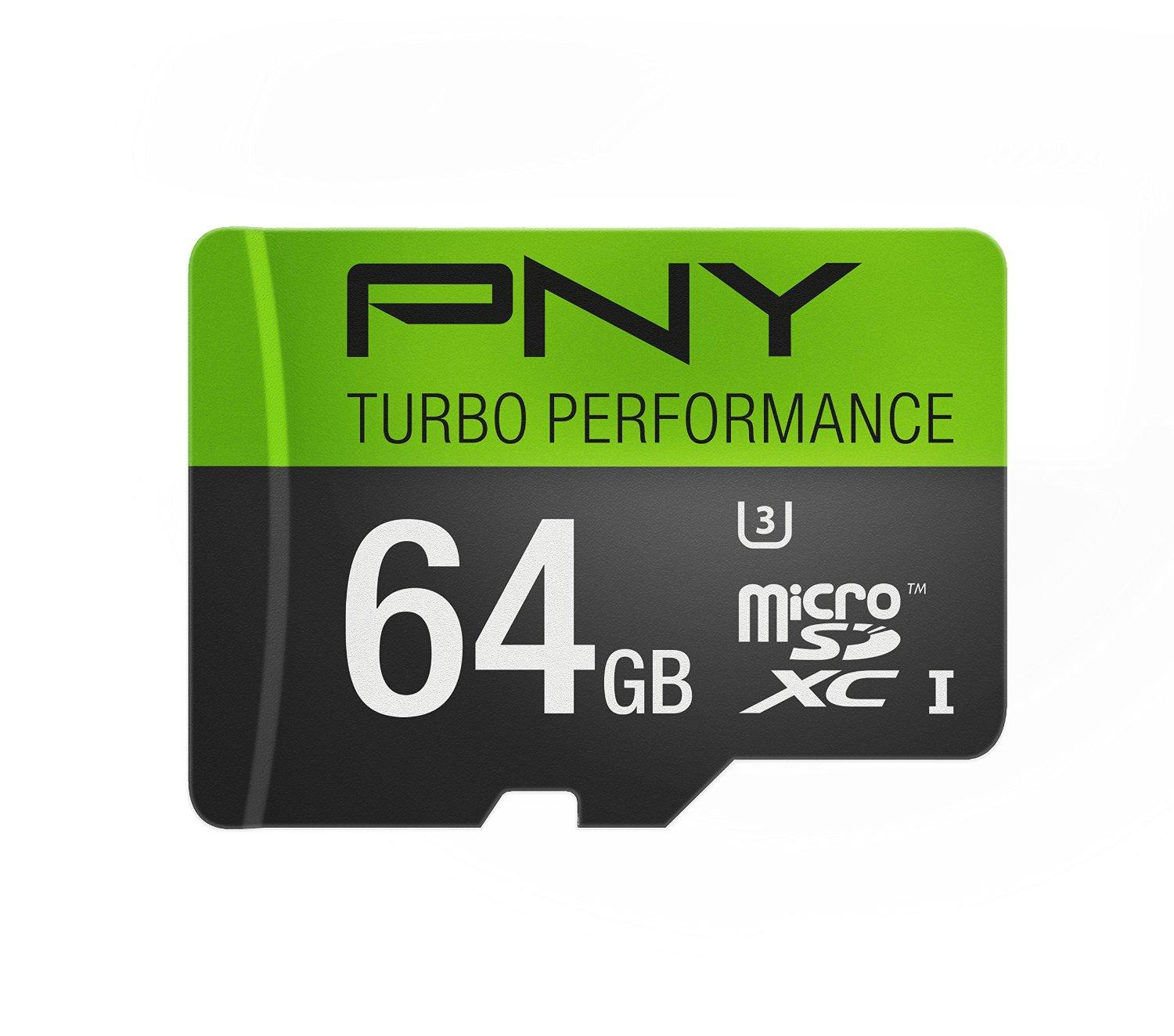 PNY U3 Turbo Performance 64GB High Speed MicroSDXC