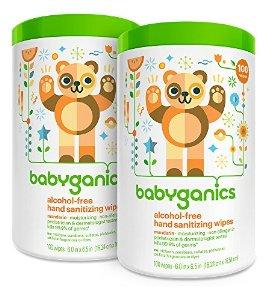 $8.49 Babyganics Alcohol Free Hand Sanitizer Wipes, Mandarin, 100 Count Canister (Pack of 2)