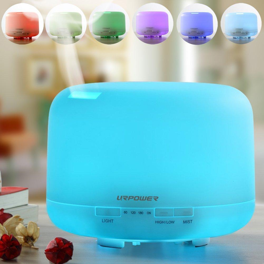 URPOWER 500ml Aromatherapy Essential Oil Diffuser Ultrasonic Air Humidifier