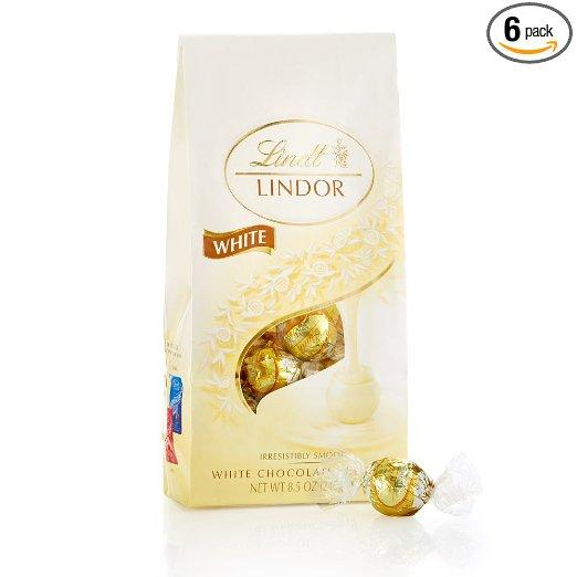 $20.34 Lindor Lindt Chocolate Truffles, White, 8.5 Ounce (Pack of 6)