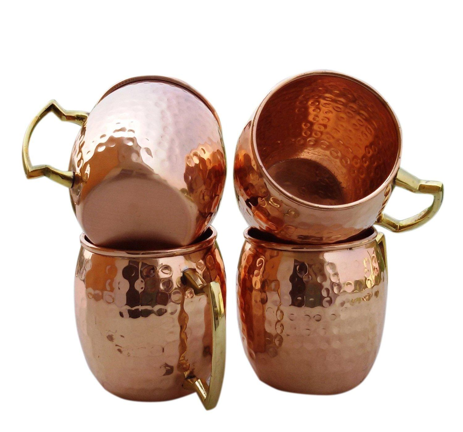 Hammered Copper Moscow Mule Mug Handmade of 100% Pure Copper