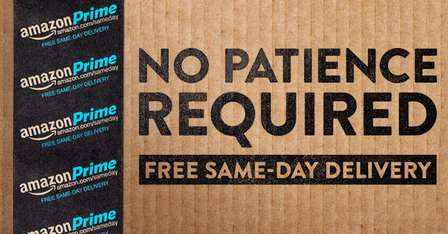 Free Same Day Delivery For $35 or More Prime Member order in 27 metro areas