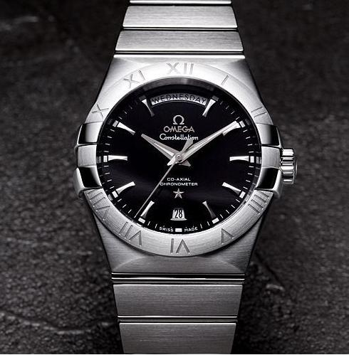$3495 Omega Constellation Chronometer Black Dial Stainless Steel Men's Watch 123.10.38.22.01.001