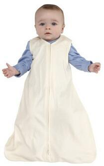 HALO SleepSack 100% Cotton Wearable Blanket, Cream, Medium