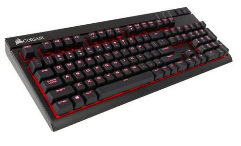 $89.99 Corsair - STRAFE Mechanical Gaming Keyboard - Cherry MX Red (CH-9000088-NA)