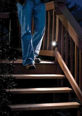 Mr. Beams MB522 Battery Operated Indoor/Outdoor Motion-Sensing LED Step/Stair Light, Brown, 2-Pack