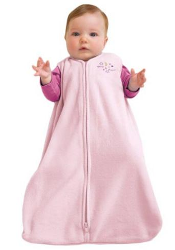 HALO SleepSack Micro-Fleece Wearable Blanket, Soft Pink, X-Large