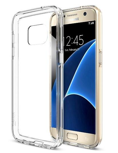 Free Galaxy S7 Case, Trianium [Clear Cushion] @ Amazon