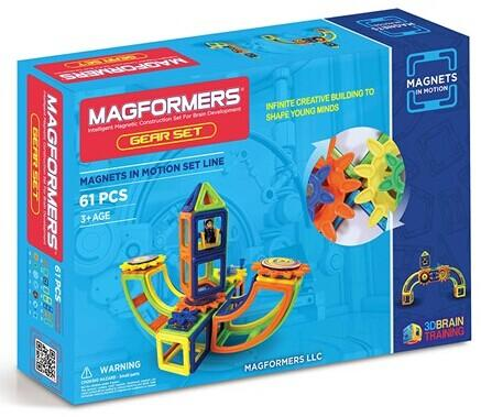 Magformers 63208 Magnets in Motion 61Pc Opaque Set