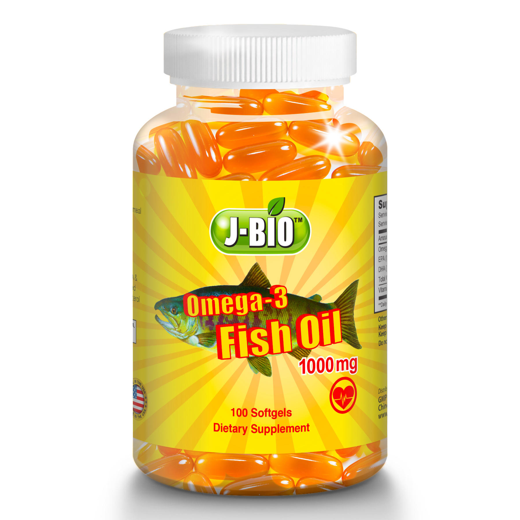 Alaska Deep Sea fish oil Omega-3 1000mg DHA/EPA 100 softgel