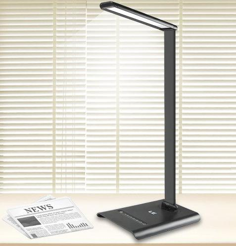 LE Dimmable LED Touch Sensitive Desk Lamps, 7-Level Brightness, 6W