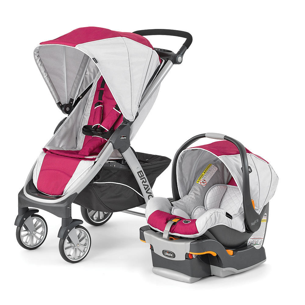 Chicco Bravo Trio Travel System Stroller - Orchid