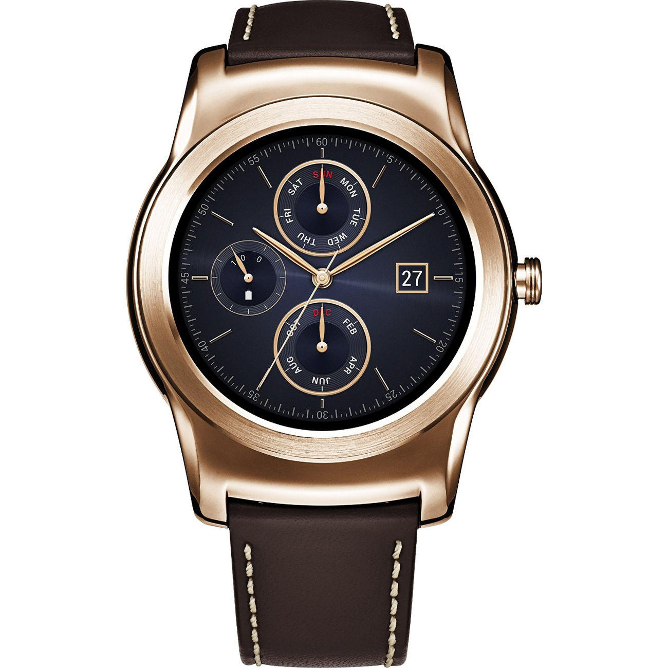 LG Watch Urbane Wearable Smart Watch Pink Gold